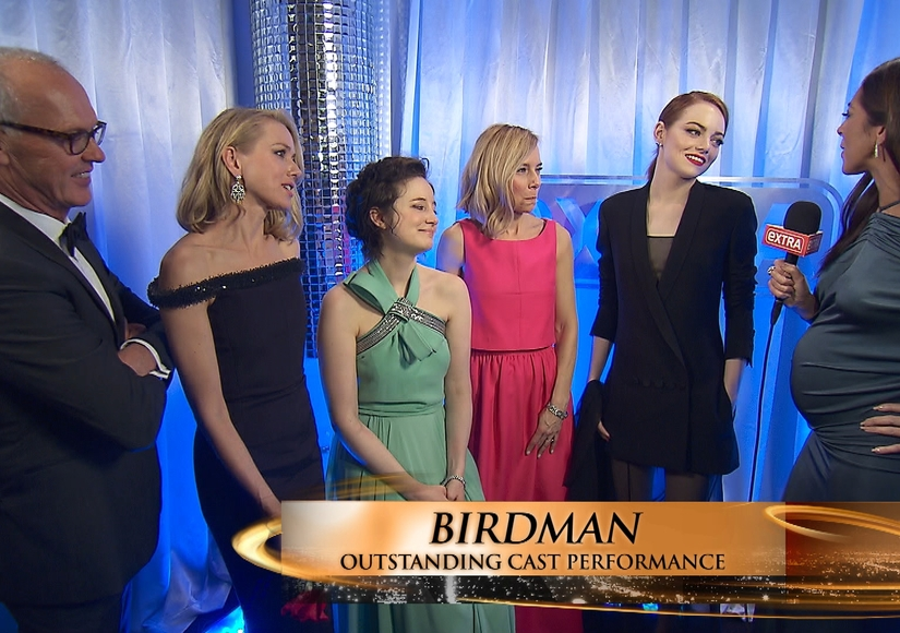 'Extra' Hangs Out Backstage with the 2015 SAG Award Winners