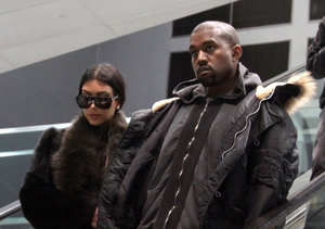 Fan Asks Kanye to Sign a Pic of Kim from Her Wedding to Kris! See His Reaction