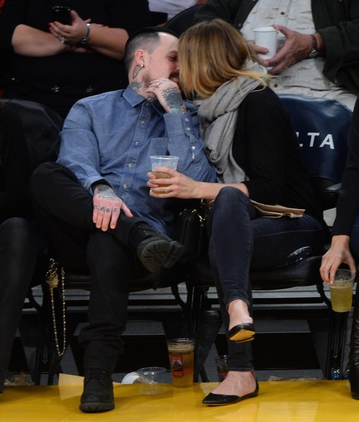 Newlyweds Benji Madden & Cameron Diaz Caught on Kiss Cam!