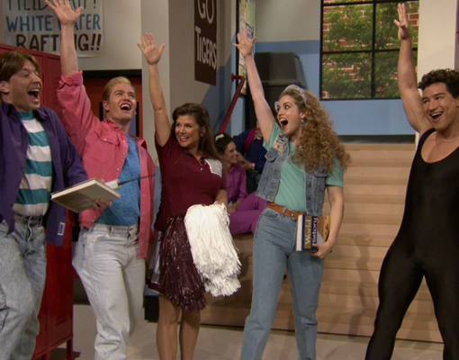 Flashback! 'Saved by the Bell' Cast Reunites on 'Tonight Show'