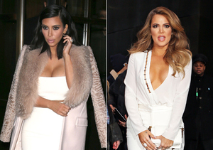 Kardashian Kleavage Battle: Kim vs. Khloé