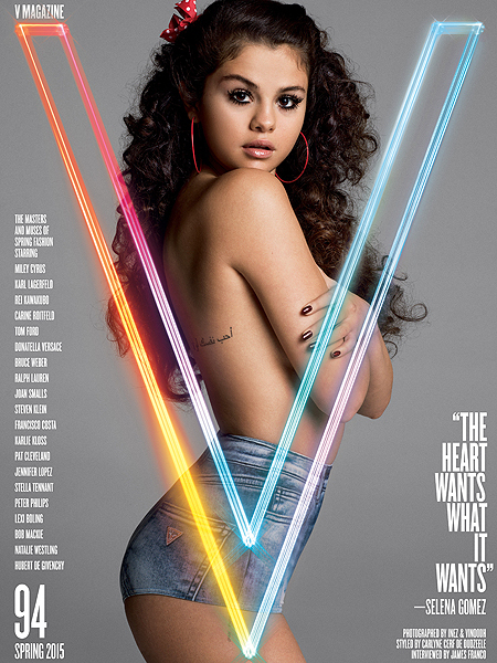 Selena Gomez Goes Topless, Describes 'First Love' for V Magazine