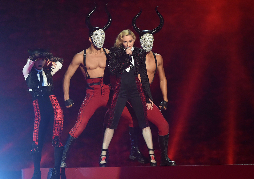 Madonna Falls Off Stage During BRIT Awards Performance!