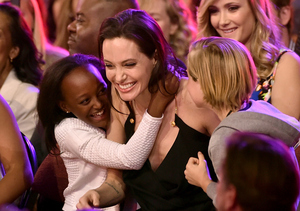 Angelina Jolie Gives Emotional Speech, Tells Kids It's Okay to Be Different