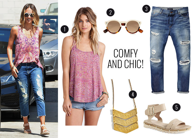 Steal Jessica Alba's Easy, Breezy Post-Vacation Look!