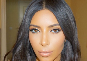 Try Kim Kardashian's Eye-Catching Turquoise Eyeliner Look!
