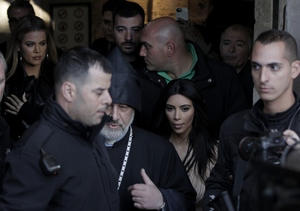 Kim & Kanye in Israel, Baptize North West in Ancient Cathedral