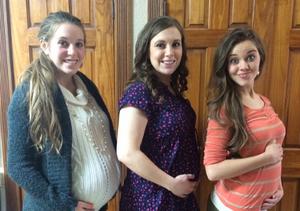 Pic! Duggar Baby Bumps Times 3