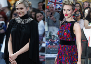 'The Avengers' Premiere! Elizabeth Olsen Goes Bra-Less, But ScarJo Steals the Show in Colorful Jumpsuit