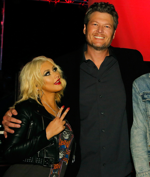 See Blake Shelton's Priceless Reaction to Christina Aguilera Beating Him on the Country Charts
