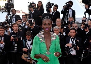 Lupita Nyong'o Makes Grand Entrance at Cannes in Gucci Gown!