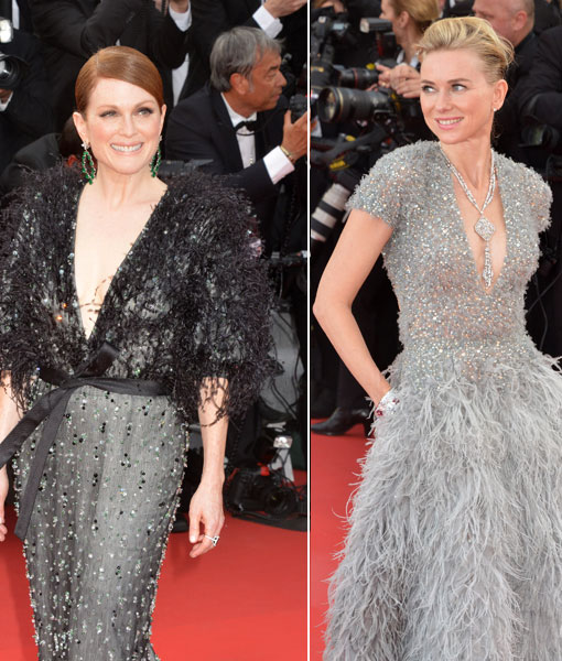 Julianne Moore and Naomi Watts Look Fab in Feathers at 2015 Cannes Film Festival