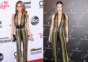 Double Take! Supermodels Chrissy Teigen and Rosie Huntington-Whiteley Rock Same…