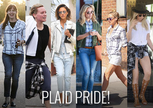 Hollywood Is Mad for Plaid! Get the Comfy Chic Look