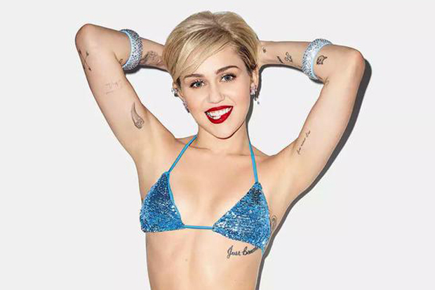 Miley Cyrus Plays It Smooth for Golden Lady Bikini Promo