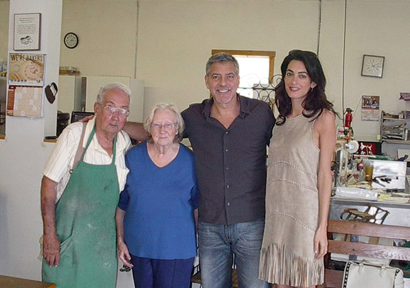 Pics: Amal & George Clooney Visit His Kentucky Hometown