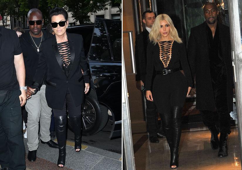 Fashion Faceoff: Kris Jenner Rocks Kim's Same Sexy Head-to-Toe Look!