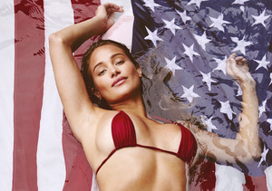 Swimsuit Supermodel Hannah Davis Gets Red White and Hot for the 4th of July