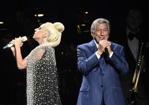 Lady Gaga Even Falls Fabulously