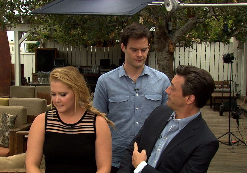 Jon Hamm Pretends to Be Bill Hader in Our 'Trainwreck' Interview with Amy…