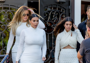 The Kardashian Sisters Unite in White! Kim and Khloe Step Out With Newly Single…