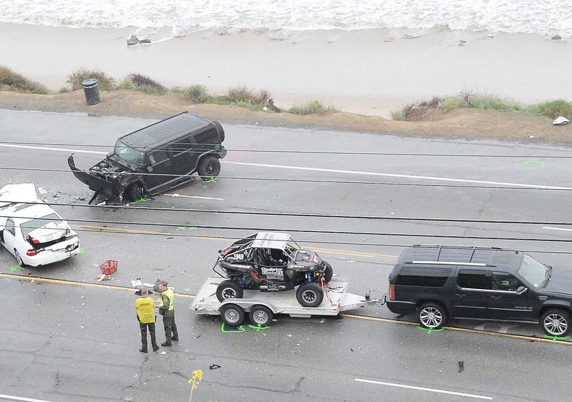 Caitlyn Jenner's Car Accident Caught on Surveillance Video
