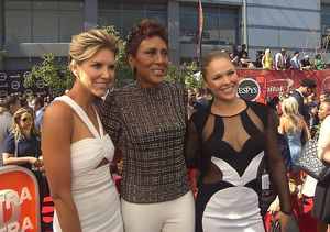 ESPYs 2015! Ronda Rousey and Robin Roberts on Caitlyn Jenner Receiving Arthur…
