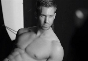 See Taylor Swift's BF Calvin Harris Model Underwear for Armani!