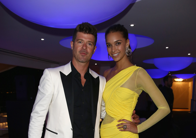 Robin Thicke & April Love Geary Expecting — See Her Baby Bump!