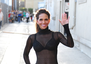 Halle Berry Flashes Bra in Sexy, Sheer Top at 49