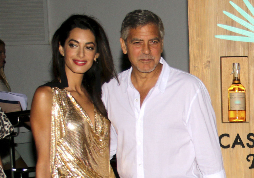 George Clooney's Wife Amal Looks Like His Life-Sized Oscar Statuette