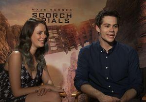 Dylan O'Brien & Kaya Scoderlario Dish on 'Maze Runner: The Scorch Trails'