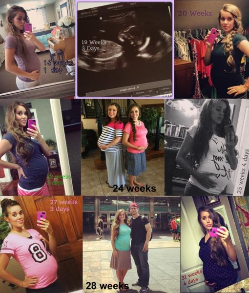 Jessa Baby Bumps 16-31 weeks
