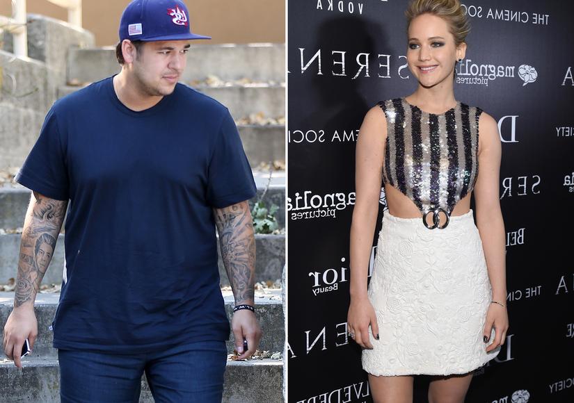 Wait, What? Did Kris Jenner Fix Up Rob Kardashian with Jennifer Lawrence?