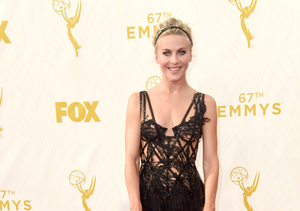 Julianne Hough Hits Emmys Red Carpet in Jaw-Dropping Black Gown