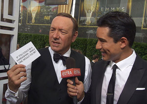 The Stars Answer Our Mystery Bowl Questions on the Emmys Red Carpet