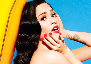 This Is Bananas! Demi Lovato Goes Topless While Posing with Blow-up Fruit