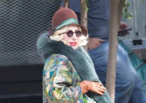 See Lady Gaga's Baby Bump on 'AHS' Set!