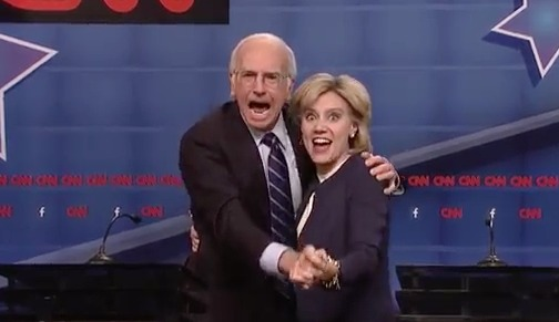Larry David Feels the Bern, Debuts Spot-on Bernie Sanders Impression on 'SNL'
