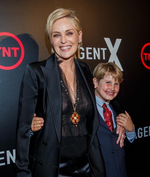 Sharon Stone's Son Didn't Want Her to Be Alone at 'Agent X' Premiere