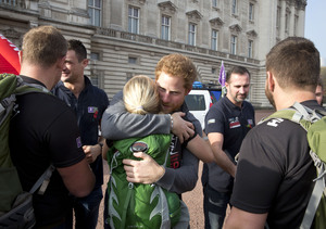 Prince Harry's Emotional Meeting with Wounded U.S. Marine Kirstie Ennis