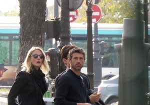 Back On? Patrick Dempsey & Jillian Fink Reunite in Paris