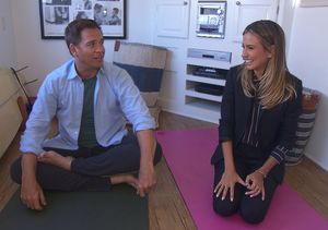 Inside Michael Weatherly's 'Extra' Yoga Session on 'NCIS' Set