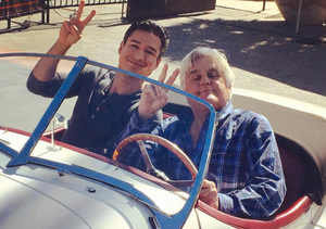 Jay Leno Crashes the 'Extra' Set, Talks Cars and Headlines