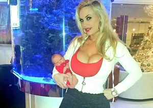 Hot Mama! Coco Flaunts Cleavage and Post-Baby Body
