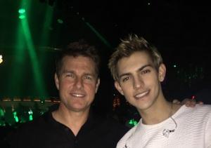 Tom Cruise Catches Nick Hissom's Vegas Show