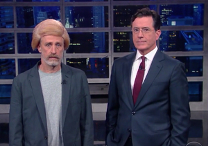 Jon Stewart Wears Wig, Channels Donald Trump — Watch!