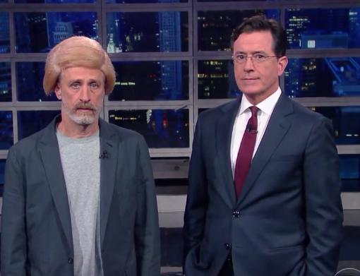 Jon Stewart Wears Wig, Channels Donald Trump — Watch!