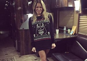 Christmas Spirit! LeAnn Rimes Goes Pantless to Celebrate 'Star Wars'…