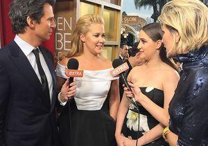 Amy Schumer Gushes About Her Boyfriend Ben Hanisch at the Golden Globes